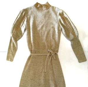 Vintage Marisa Christina 70s Wool Sweater Dress